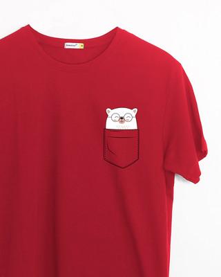 Shop Pocket Bear Half Sleeve T-Shirt-Front