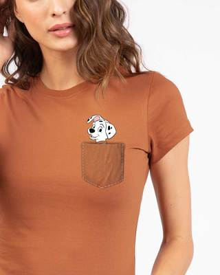 Shop Pocket Dalmatian Half Sleeve T-Shirt (DL)-Front