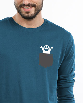 Shop Pocket Ghost Full Sleeve T-Shirt-Front