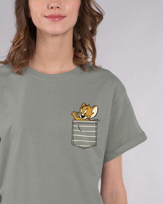Shop Pocket Jerry Boyfriend T-Shirt (TJL)-Front