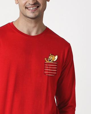 Shop Pocket Jerry Full Sleeve T-Shirt (TJL)-Front