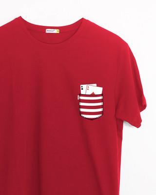 Shop Pocket Poker Half Sleeve T-Shirt-Front