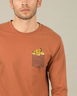 Shop Pocket Simba Full Sleeve T-Shirt (DL)-Front