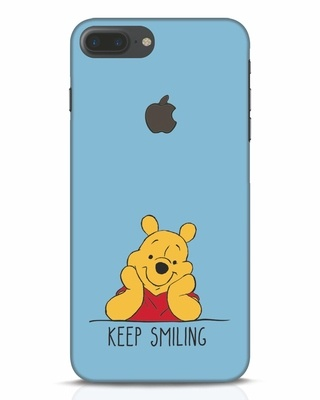 Shop Pooh Keep Smiling iPhone 7 Plus Logo Cut Mobile Cover-Front