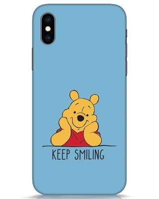 Shop Pooh Keep Smiling iPhone XS Mobile Cover-Front