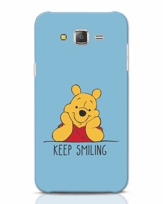 Shop Pooh Keep Smiling Samsung Galaxy J7 Mobile Cover-Front