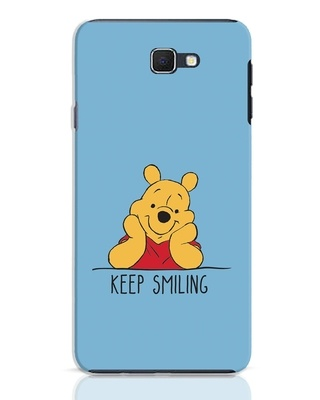 Shop Pooh Keep Smiling Samsung Galaxy J7 Prime Mobile Cover-Front