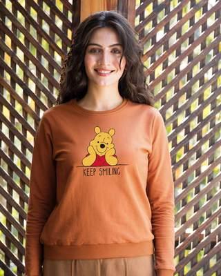 Shop Pooh Keep Smiling Sweatshirt (DL)-Front