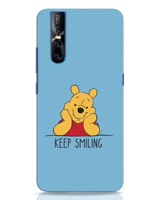 Shop Pooh Keep Smiling Vivo V15 Pro Mobile Cover-Front