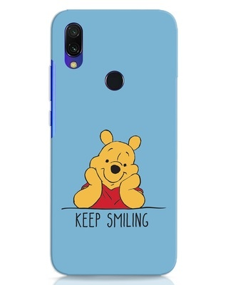 Shop Pooh Keep Smiling Xiaomi Redmi 7 Mobile Cover-Front