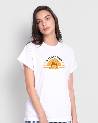 Shop Pooh Rise & Shine Boyfriend T-Shirt (DL) White-Front