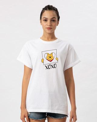 Shop Pooh Xoxo Boyfriend T-Shirt (DL)-Front