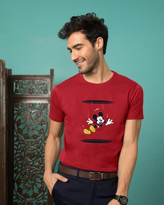 Shop Portal Mickey Half Sleeve T-Shirt (DL)-Front