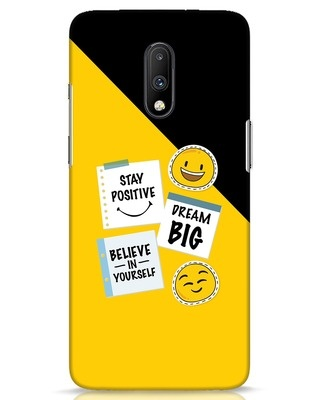 Shop Positive Stickers OnePlus 7 Mobile Cover-Front