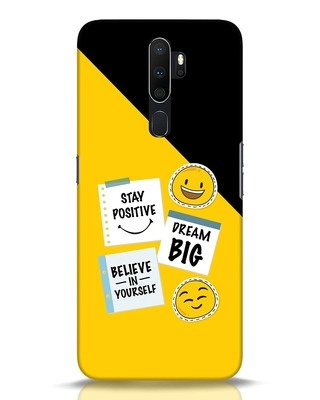 Shop Positive Stickers Oppo A5 2020 Mobile Cover-Front