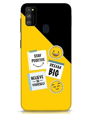 Shop Positive Stickers Samsung Galaxy M30s Mobile Cover-Front