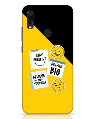 Shop Positive Stickers Xiaomi Redmi Note 7 Pro Mobile Cover-Front