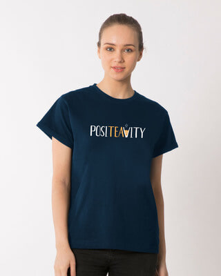Shop Positivity Boyfriend T-Shirt-Front