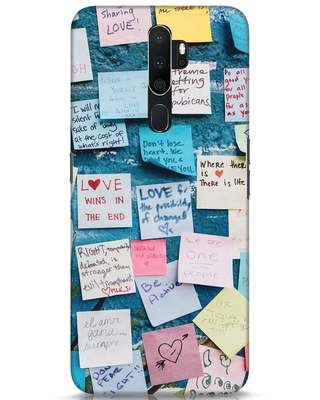 Shop Post It Up Oppo A5 2020 Mobile Cover-Front
