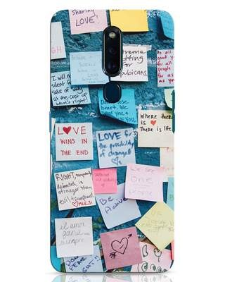 Shop Post It Up Oppo F11 Pro Mobile Cover-Front