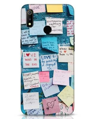 Shop Post It Up Realme 3 Mobile Cover-Front