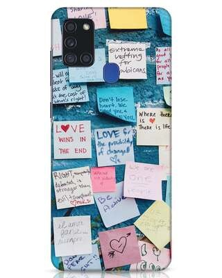 Shop Post It Up Samsung Galaxy A21s Mobile Cover-Front