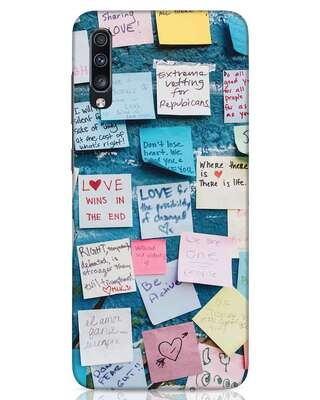 Shop Post It Up Samsung Galaxy A70 Mobile Cover-Front
