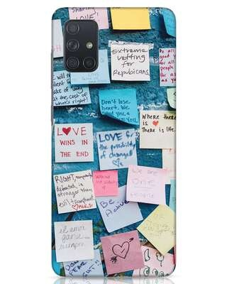 Shop Post It Up Samsung Galaxy A71 Mobile Cover-Front