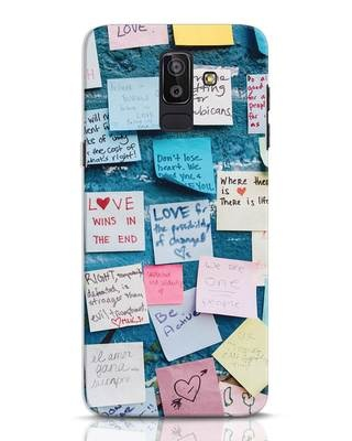 Shop Post It Up Samsung Galaxy J8 Mobile Cover-Front