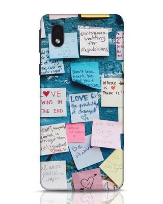 Shop Post It Up Samsung Galaxy M01 Mobile Cover-Front
