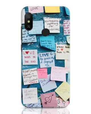 Shop Post It Up Xiaomi Redmi 6 Pro Mobile Cover-Front