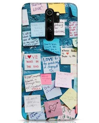 Shop Post It Up Xiaomi Redmi Note 8 Pro Mobile Cover-Front