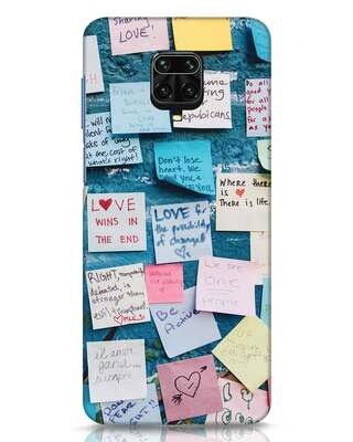 Shop Post It Up Xiaomi Redmi Note 9 Pro Max Mobile Cover-Front