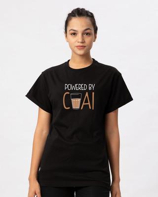 Shop Powered By Chai Boyfriend T-Shirt-Front