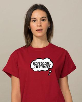 Shop Professional Overthinker Boyfriend T-Shirt-Front