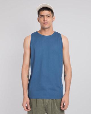 Shop Prussian Blue Vest-Front