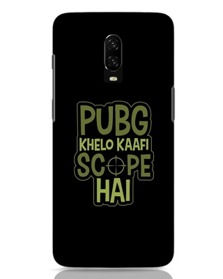 Shop Pubg Khelo OnePlus 6T Mobile Cover-Front