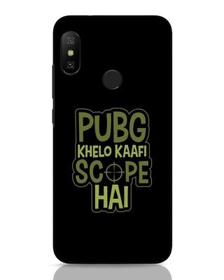 Shop Pubg Khelo Xiaomi Redmi 6 Pro Mobile Cover-Front