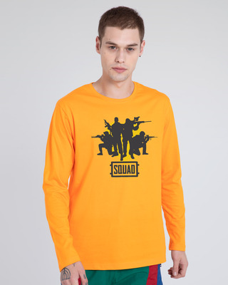 Shop Pubg Squad Full Sleeve T-Shirt-Front