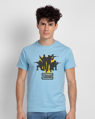Shop Pubg Squad Half Sleeve T-Shirt-Front