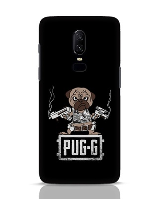 Shop Pug G OnePlus 6 Mobile Cover-Front