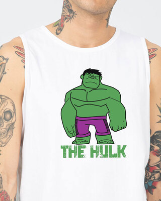Shop Puny Hulk Men's Printed Round Neck Vest-Front
