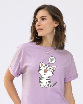 Shop Purrfect Kitty Boyfriend T-Shirt-Front
