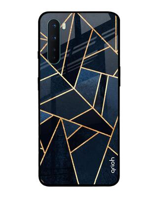 Shop Qrioh Abstract Tiles Glass case for OnePlus Nord-Front
