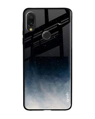 Shop Qrioh Black Aura Glass Case for Xiaomi Redmi Note 7S-Front