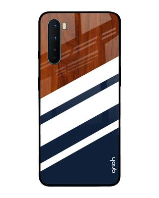 Shop Qrioh Bold Stripes Glass case for OnePlus Nord-Front