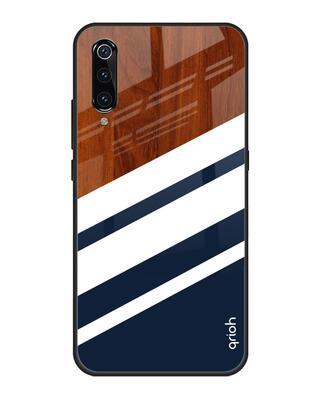 Shop Qrioh Bold Stripes Glass case for Xiaomi Mi A3-Front