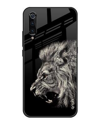 Shop Qrioh Brave Lion Glass case for Xiaomi Mi A3-Front
