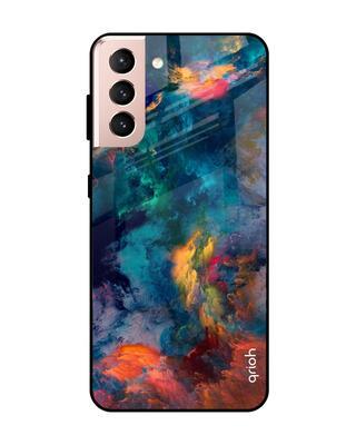 Shop Qrioh Cloudburst Glass Case For Samsung Galaxy S21-Front