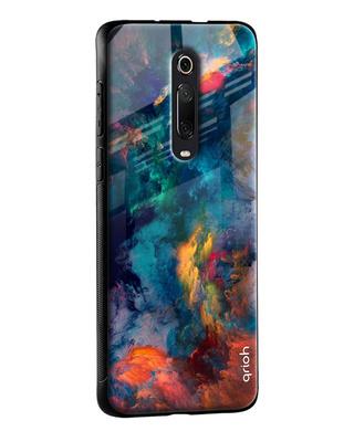 Shop Qrioh Cloudburst Glass Case for Xiaomi Redmi Note 7S-Front